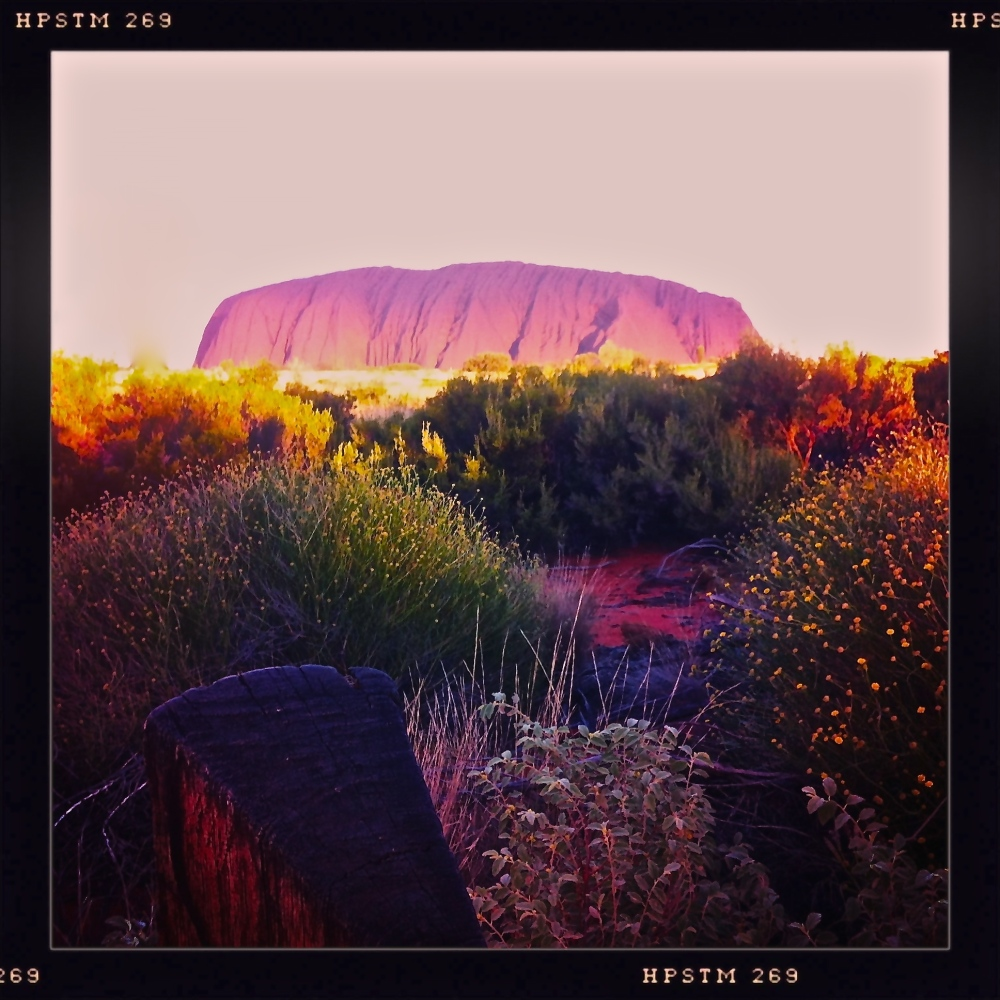 Uluru catching the light