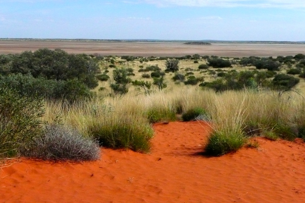 A salt lake in Central Australia