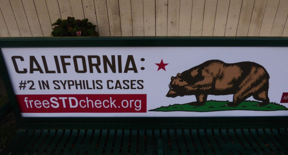 Welcome to California, don't catch syphilis.